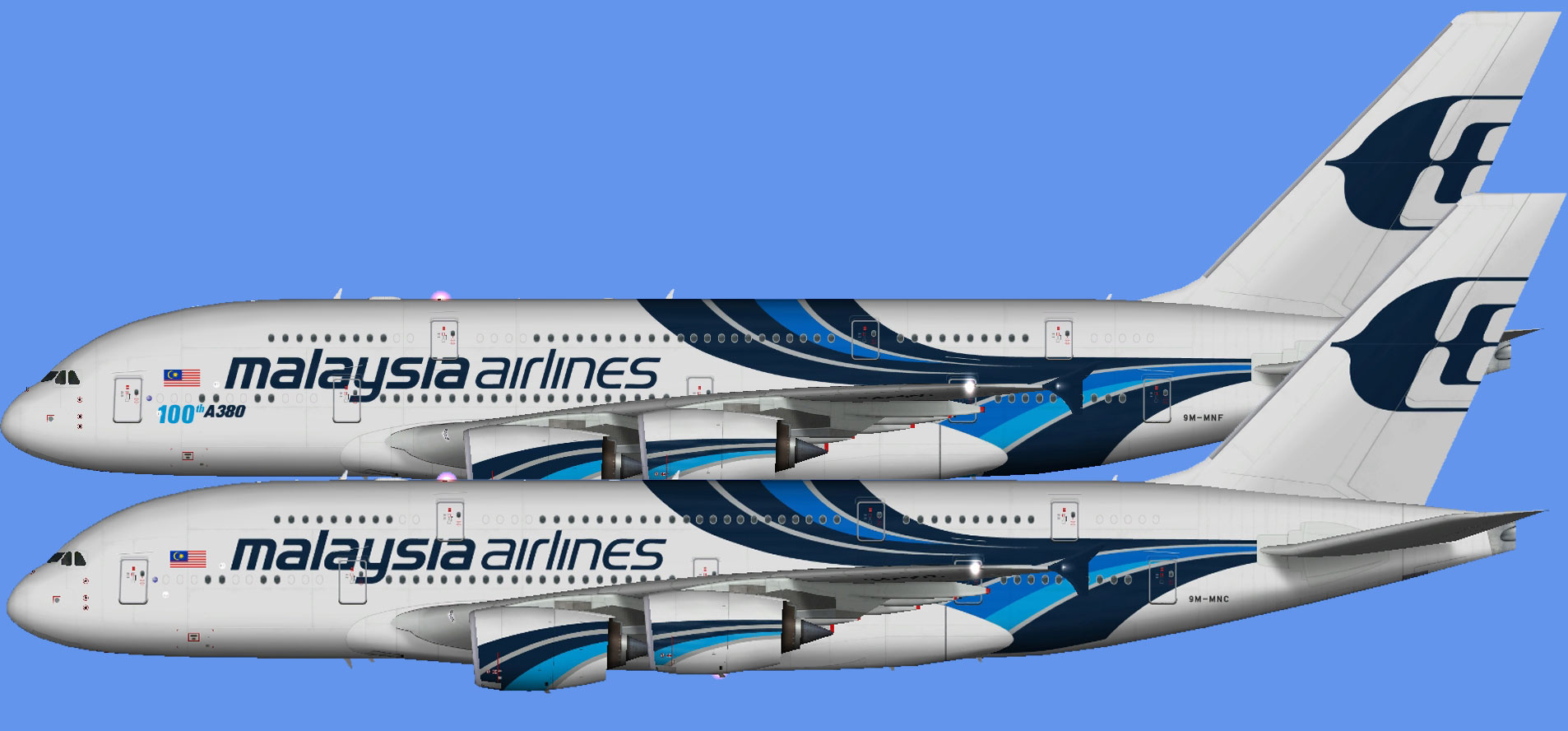 Malaysia Airlines A380 fleet (FSP)