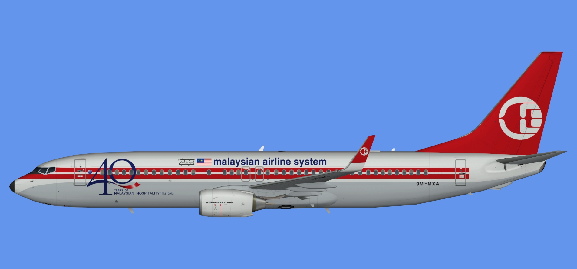 Malaysia Airlines  737-800 40 years