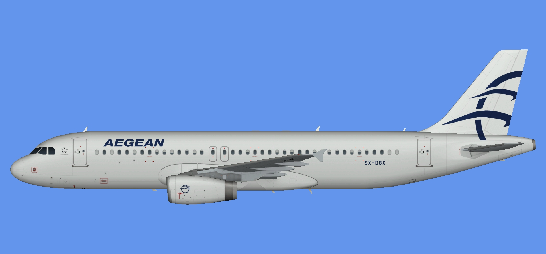 Aegean Airlines A320 (white belly)