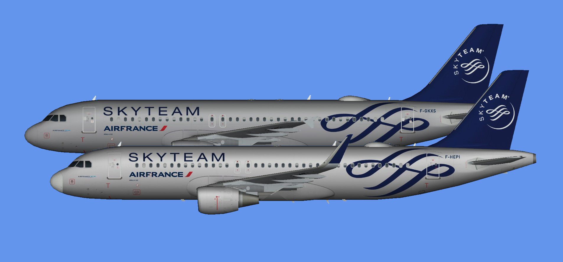 Air France Airbus A320 Skyteam