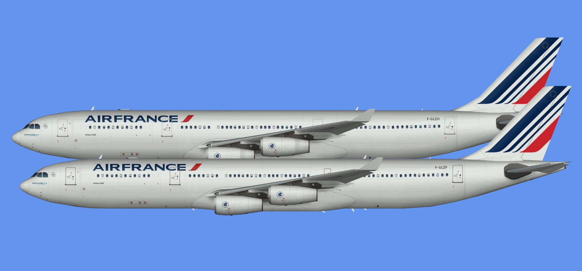 Air France A340 fleet (TFS)