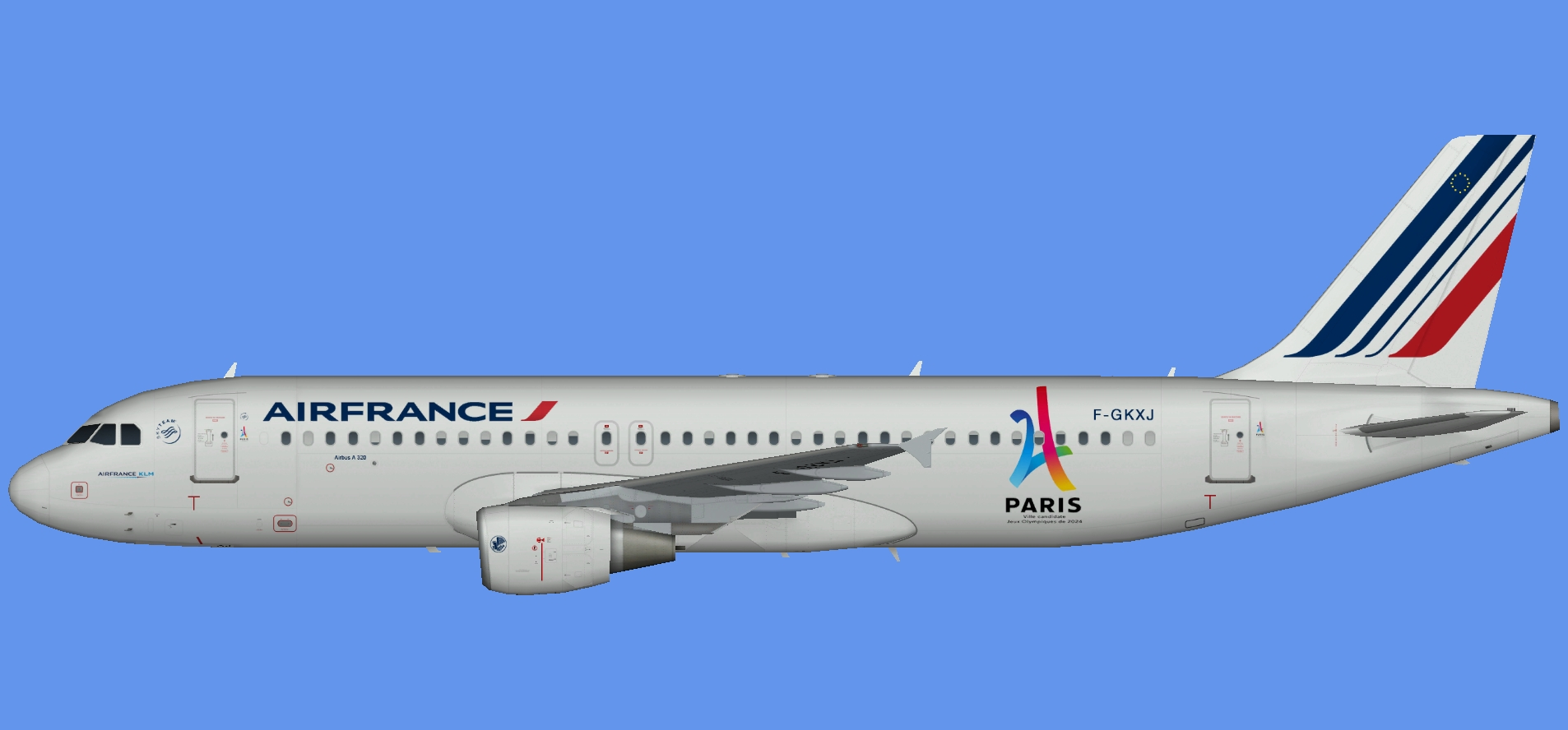 Air France Airbus A320 Paris 2024