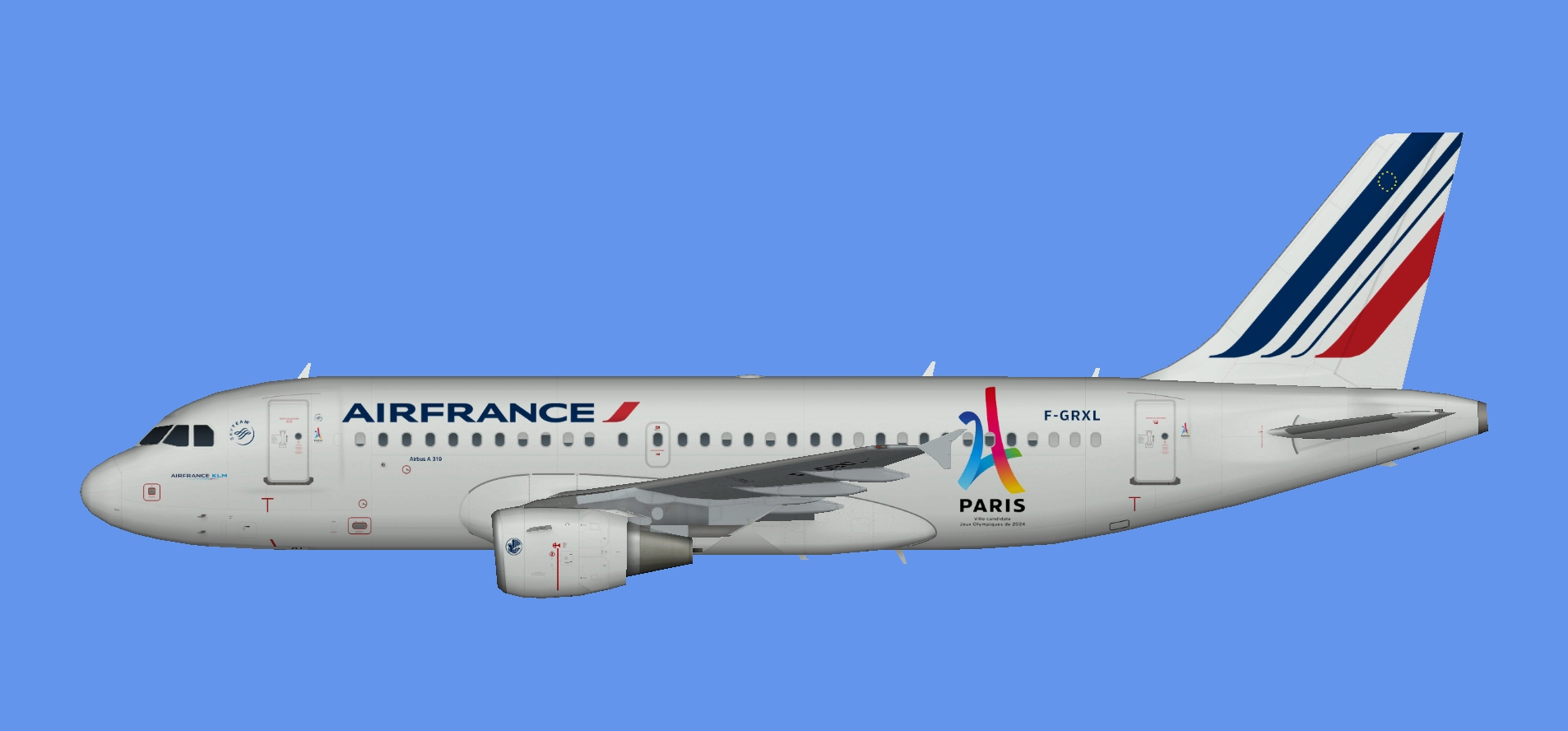 Air France Airbus A319 Paris 2024