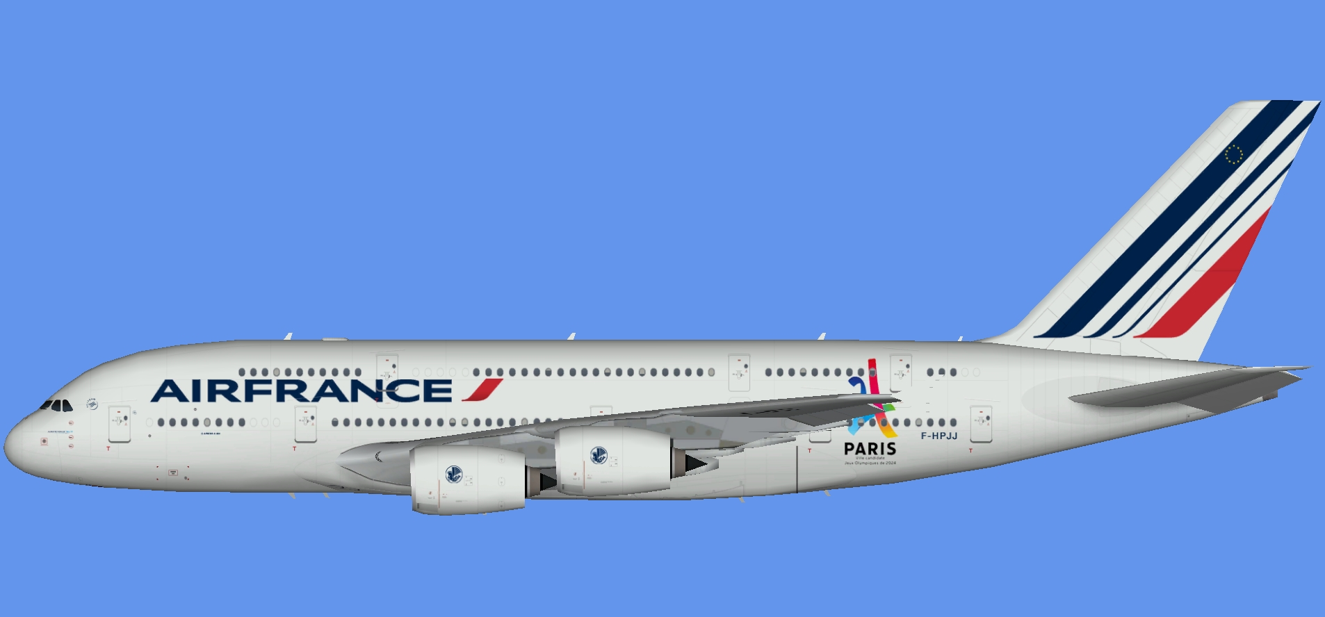 Air France A380 Paris 2024 (TFS)