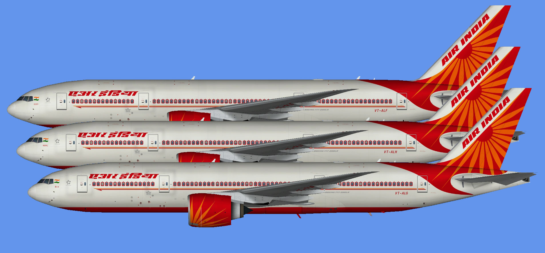 Air India Boeing 777-200LR (TFS)