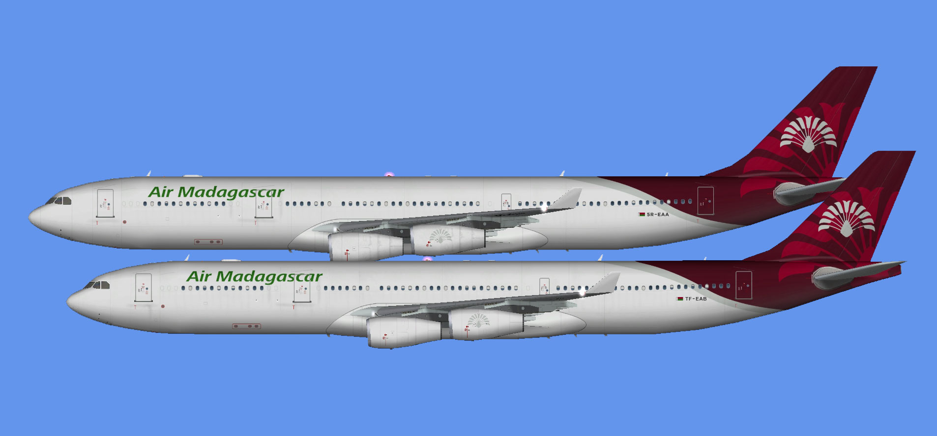 Air Madagascar A340 (FSP)