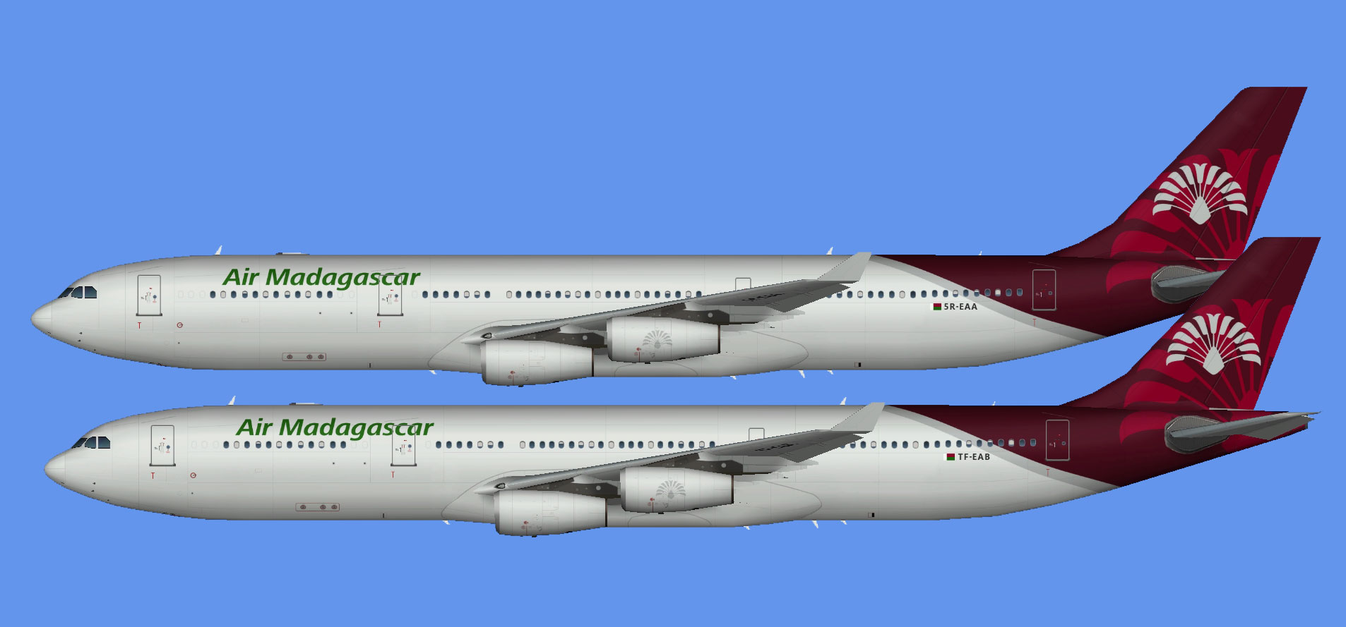 Air Madagascar A340 fleet (TFS)