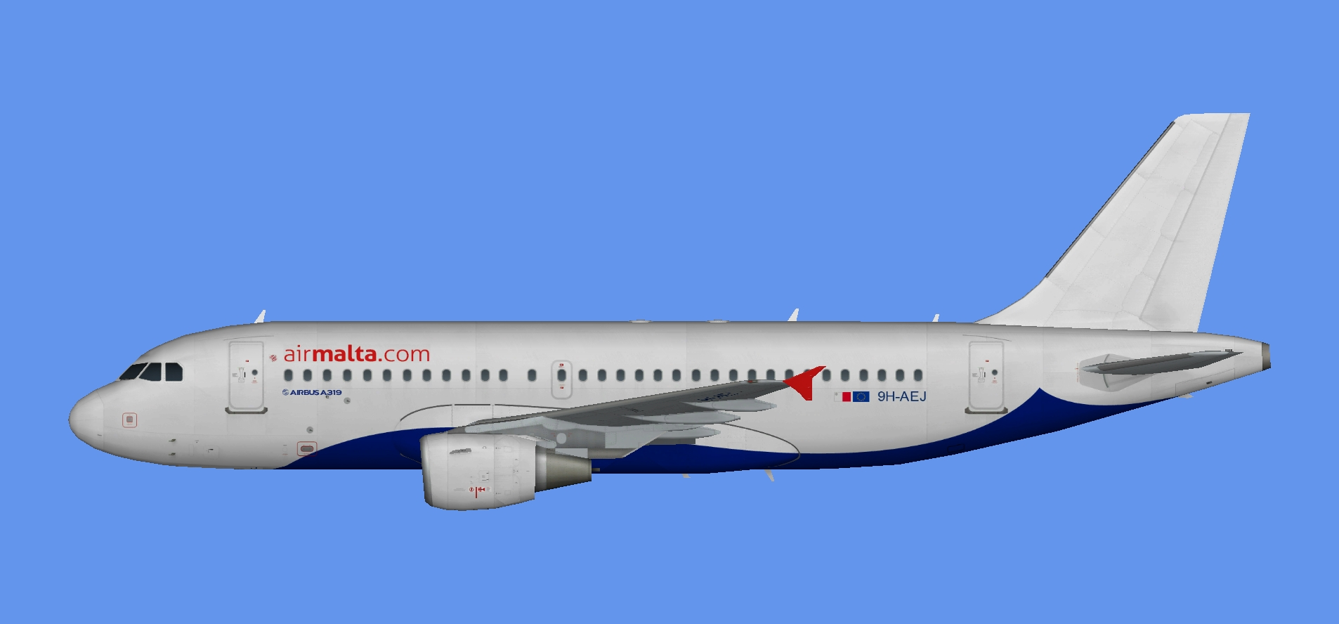 Air Malta A319 9H-AEJ (Atlantic Airways hybrid)