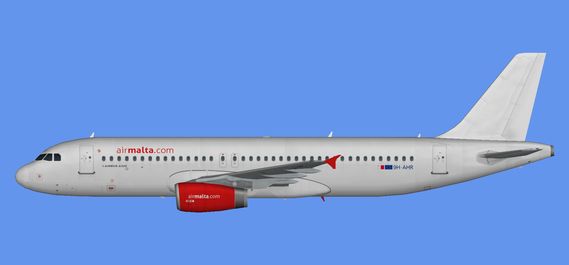 Air Malta Airbus A320 9H-AHR (white)