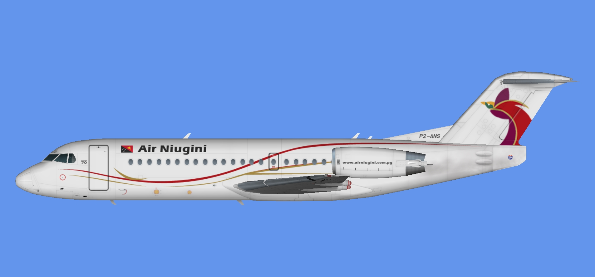 Air Niugini Fokker 70