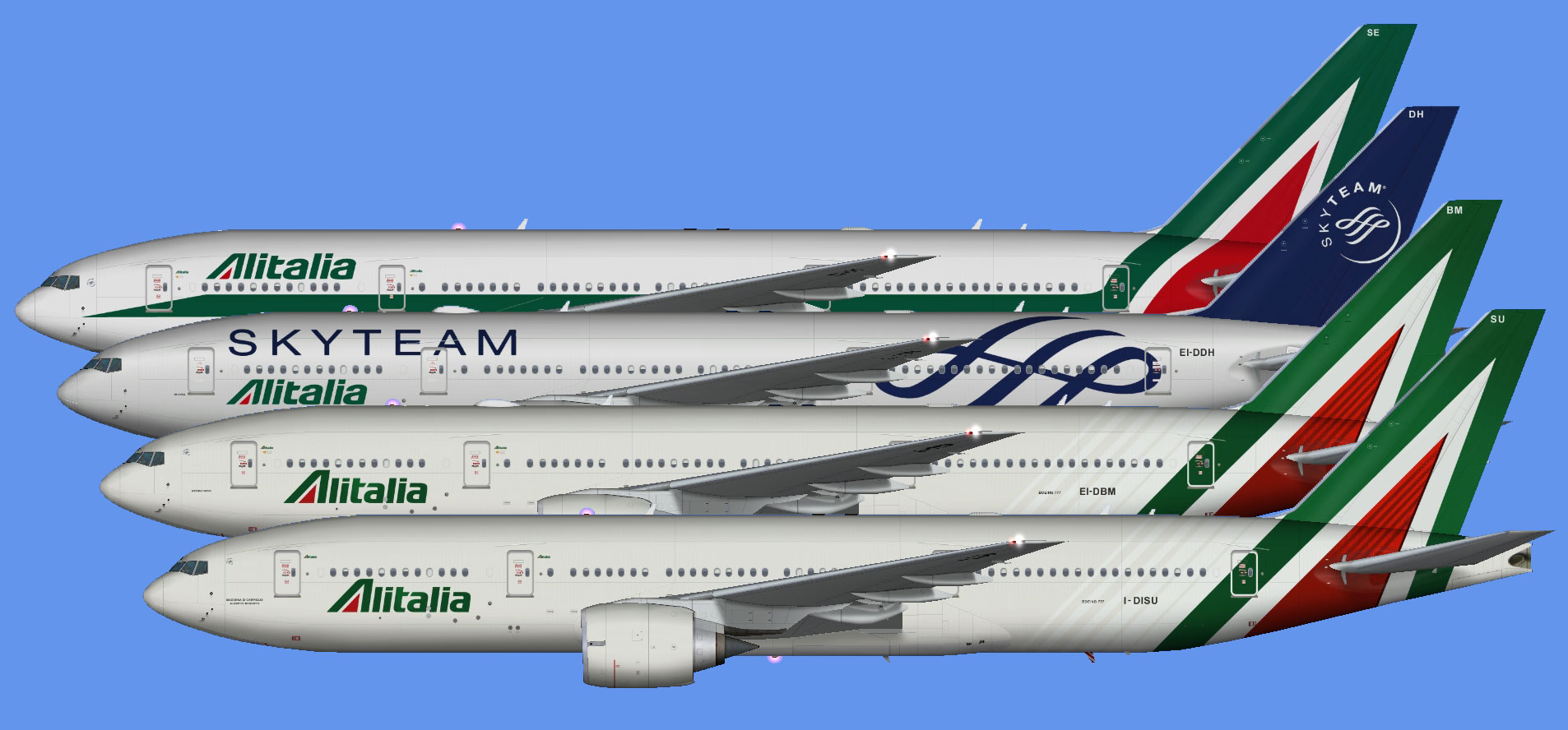 Alitalia Boeing 777-200 (FSP) - The Flying Carpet Hub
