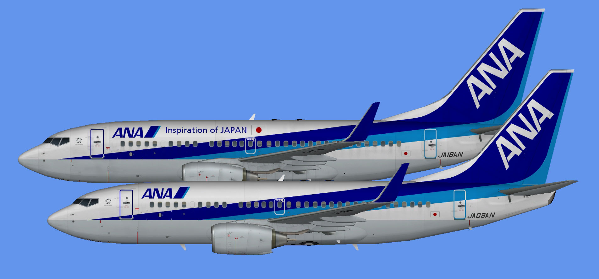 All Nippon Airways  Boeing 737-700