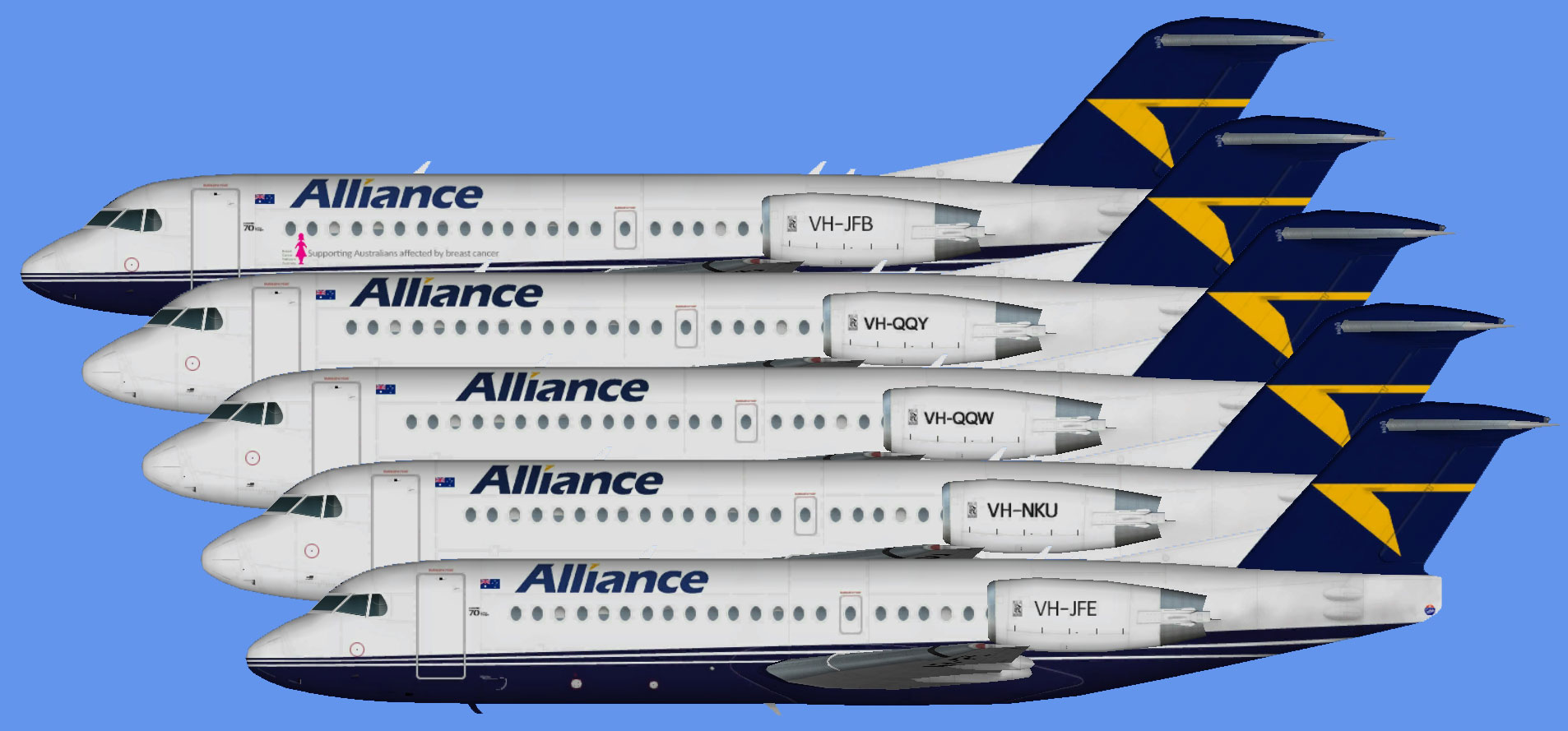 Alliance Airlines Fokker 70