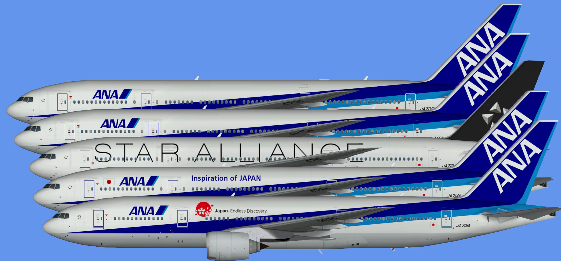 All Nippon Airways Boeing 777-200 (TFS)