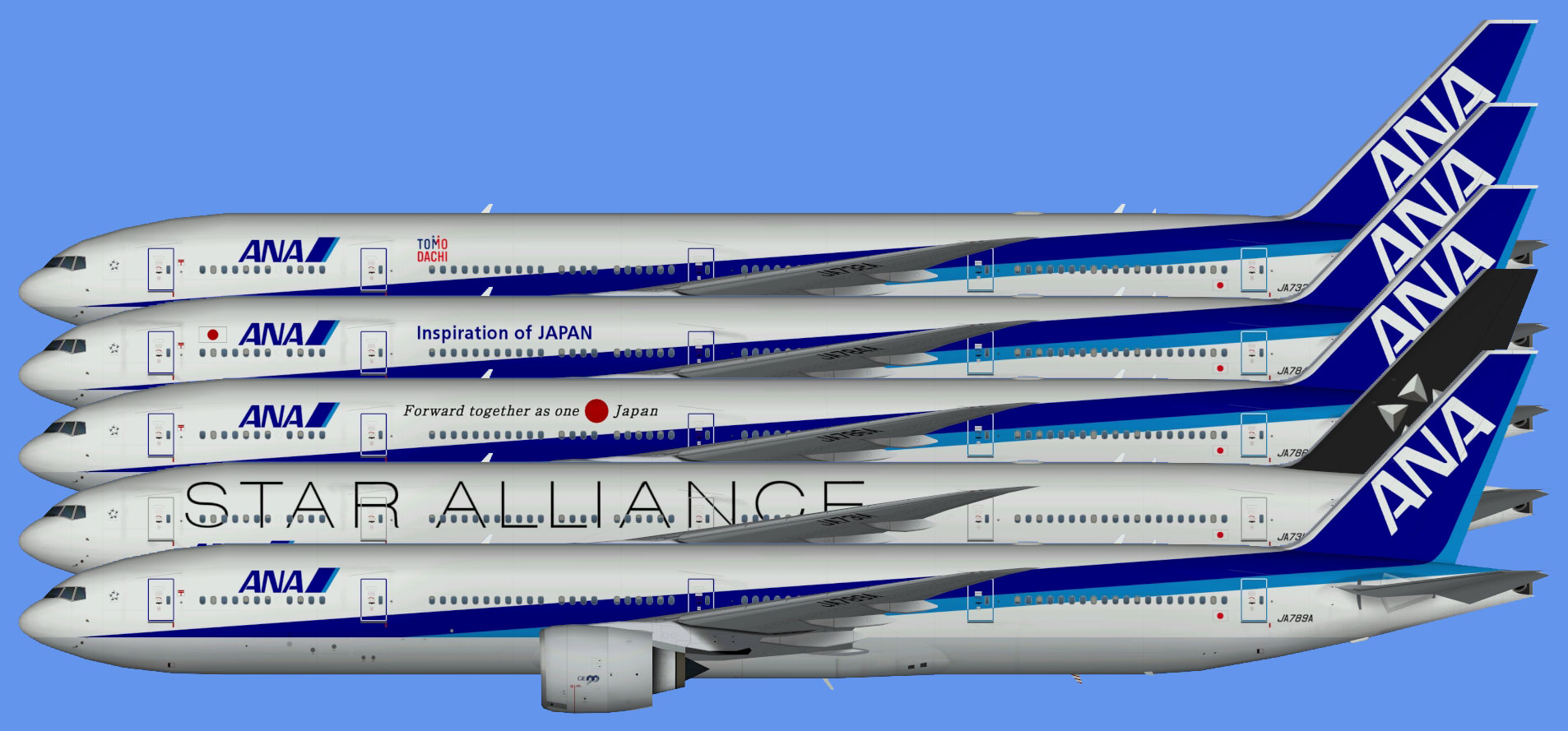 All Nippon Airways Boeing 777-300ER (TFS)
