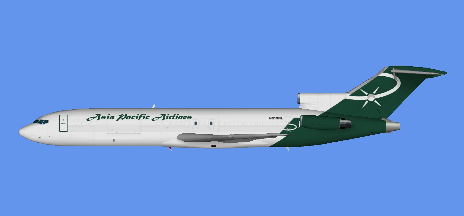 Asia Pacific Airlines  Boeing 727-200