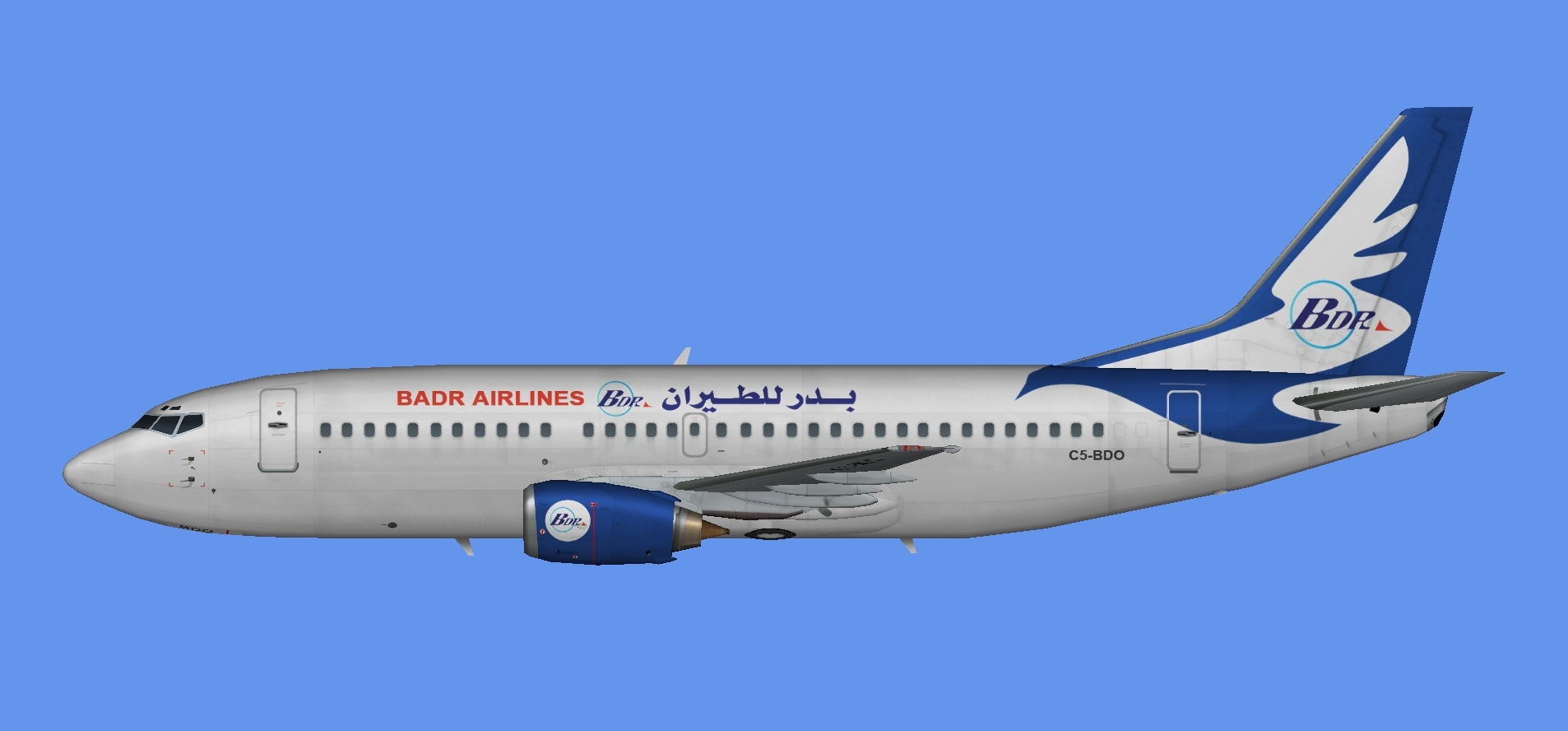 Badr Airlines Boeing 737-300
