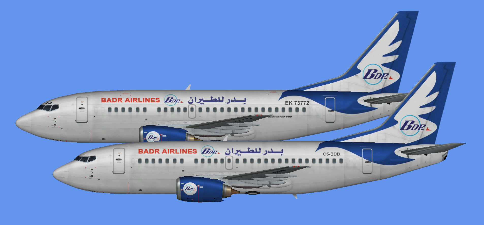 Badr Airlines Boeing 737-500