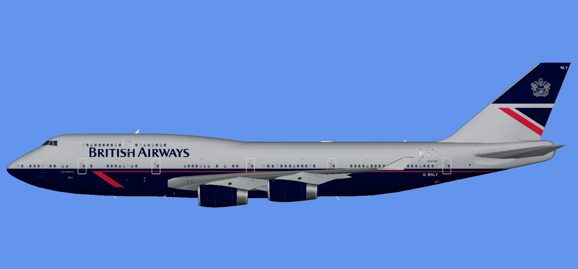 British Airways 747-400 Landor