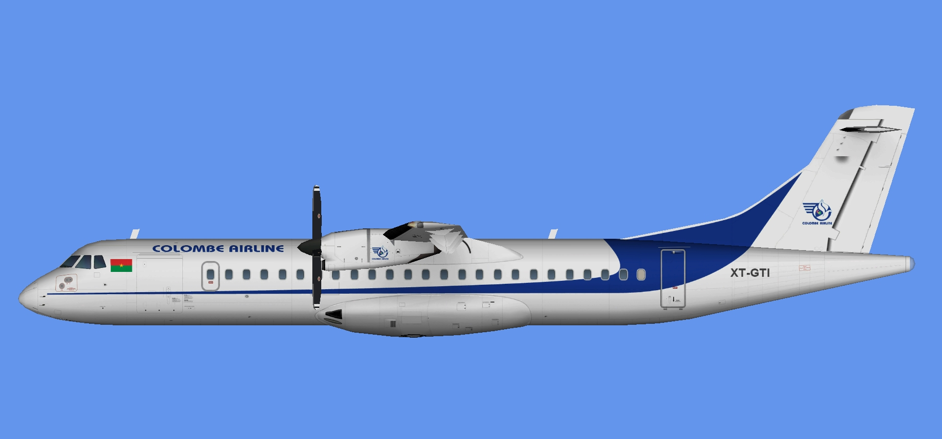 Colombe Airline ATR 72