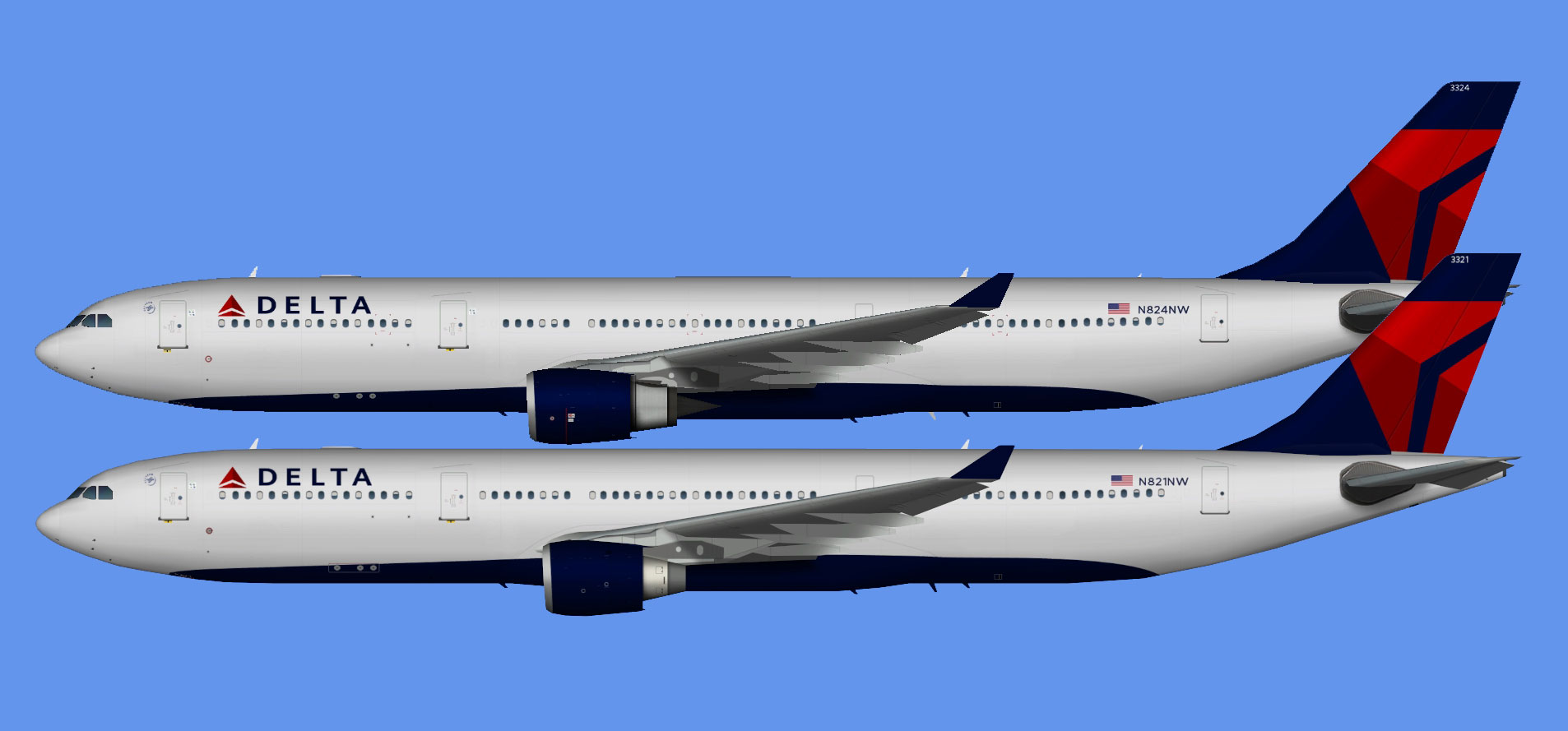 Delta Airbus A330-300 (TFS)