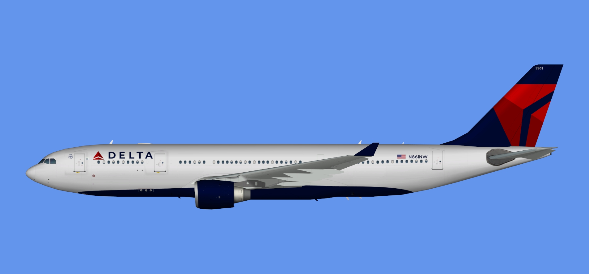 Delta Airbus A330-200 (TFS)