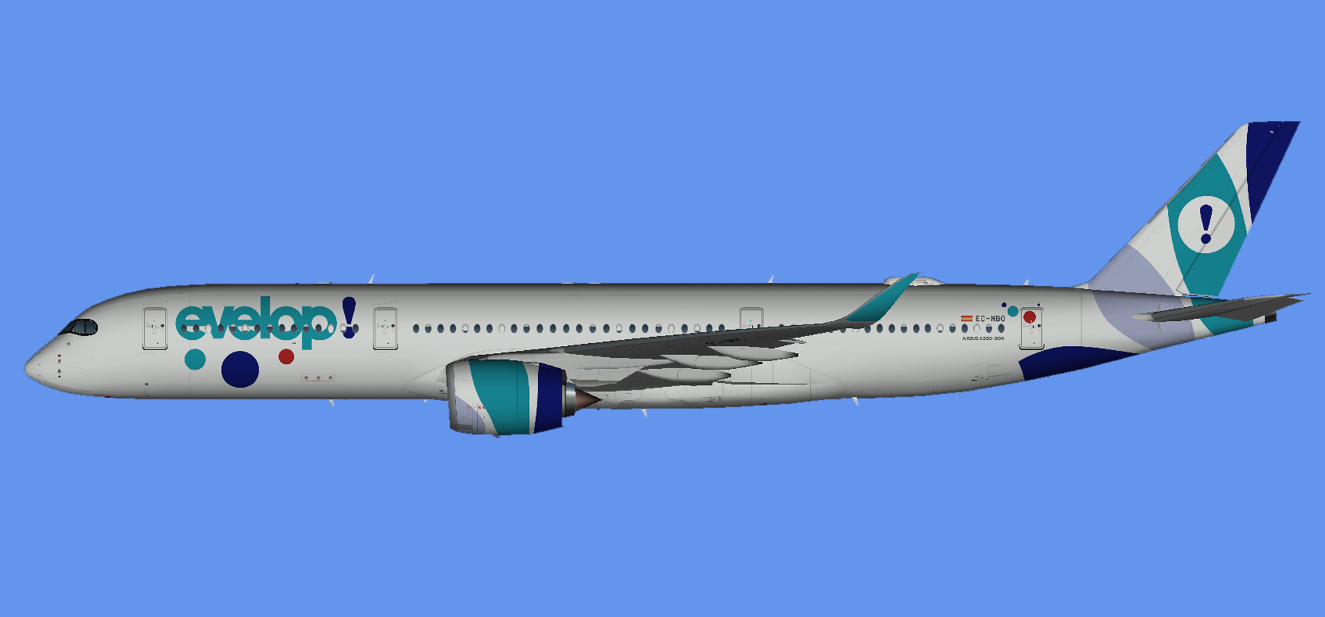 Evelop Airlines A350-900 (UTT)