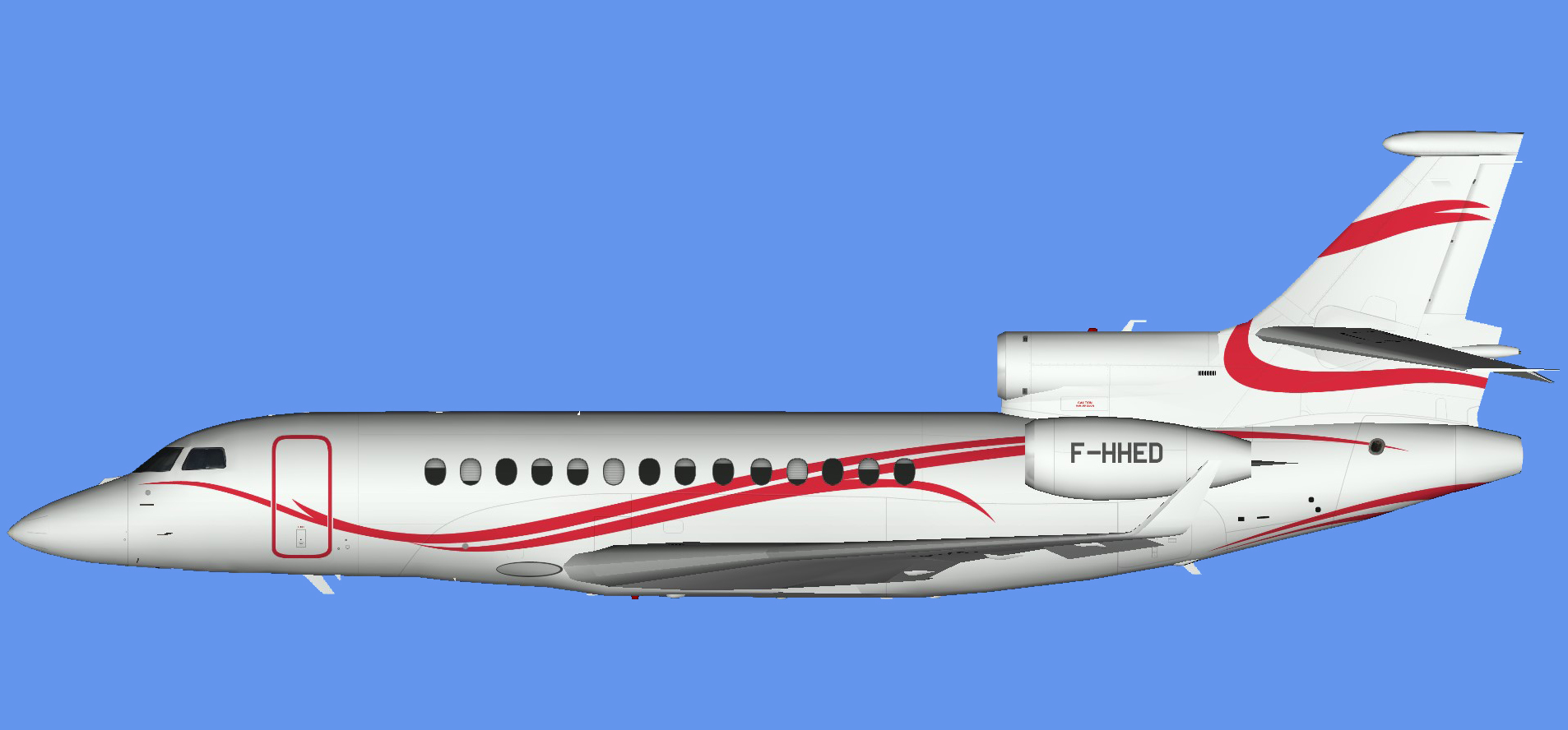 Dassault Falcon 7x F-HHED