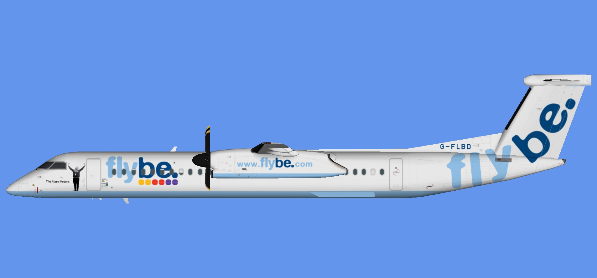 Flybe Dash 8-400 'The Mary Peters'