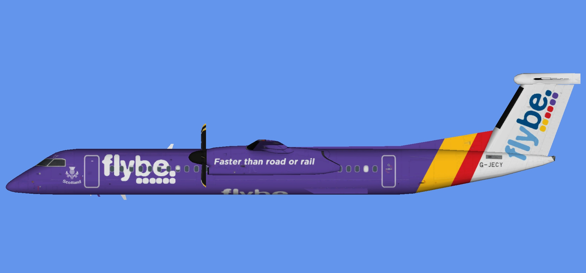 Flybe Dash 8-400 'Scotland'