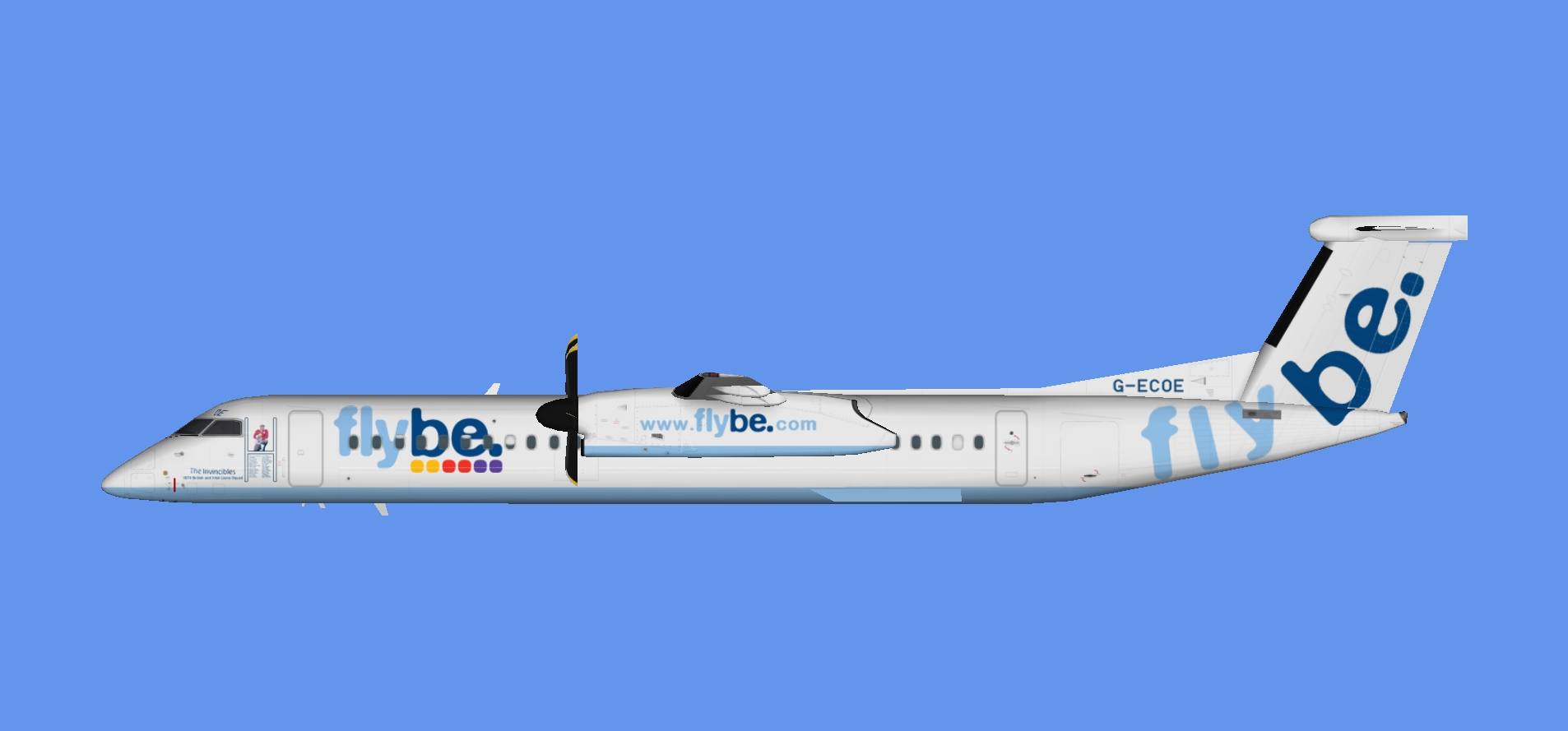 Flybe Dash 8-400 'The Invincibles'