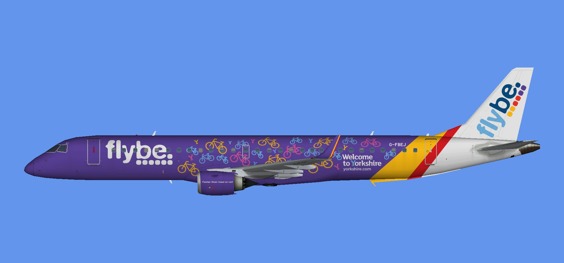 Flybe Embraer E195 'Yorkshire'