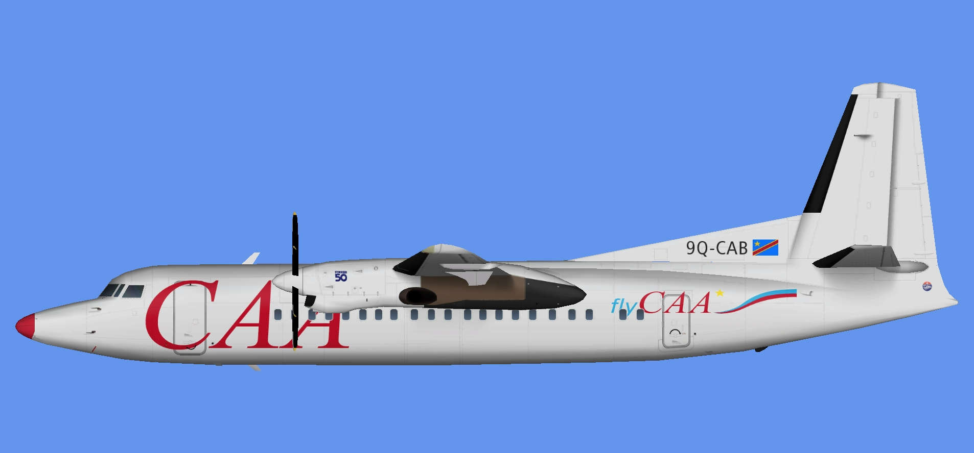 Compagnie Africaine d'Aviation Fokker 50