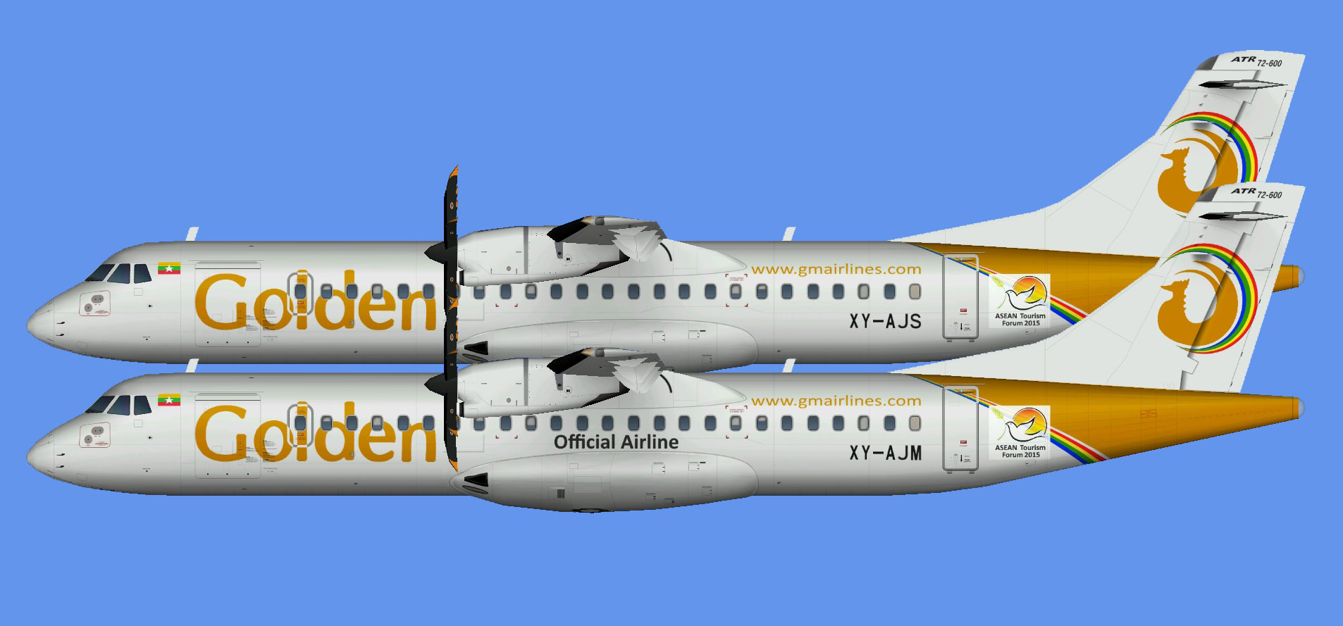 Golden Myanmar ATR 72