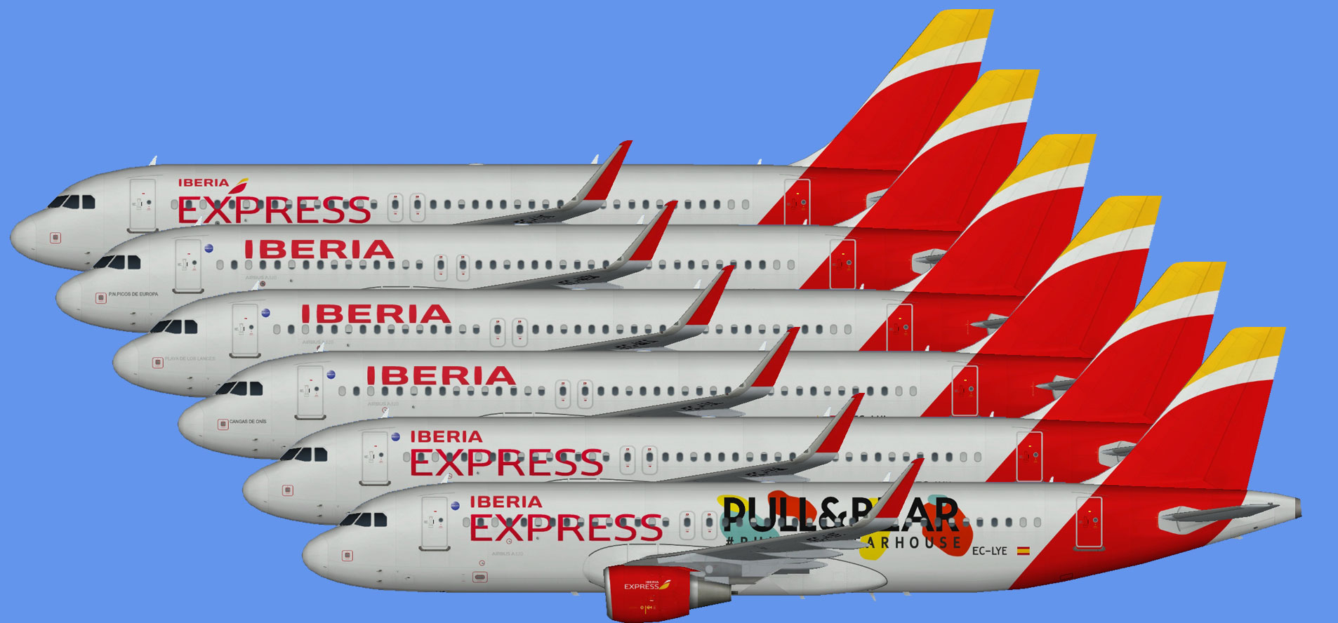 Iberia Airbus A320 (sharklets)