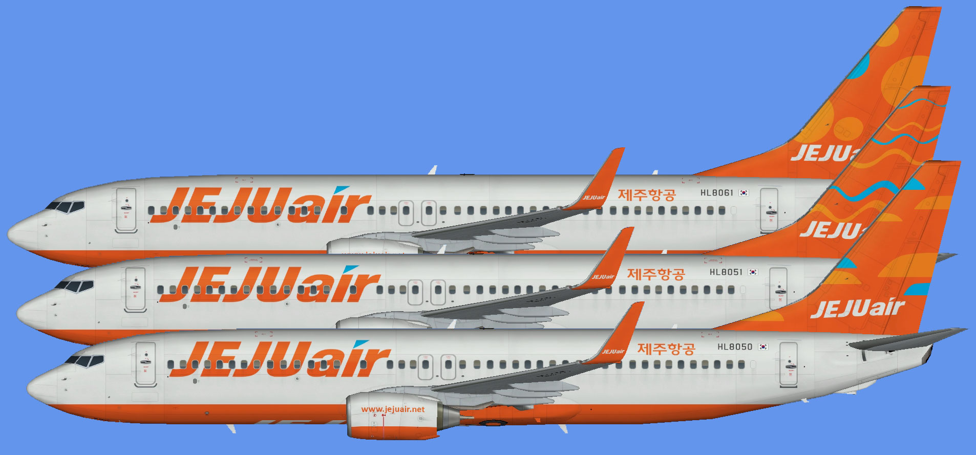 Jeju Air 737-800 (winglets)