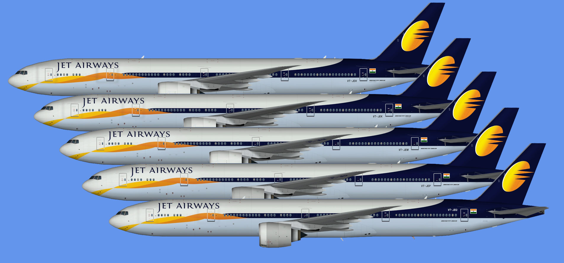 Jet Airways 777-300ER (TFS)