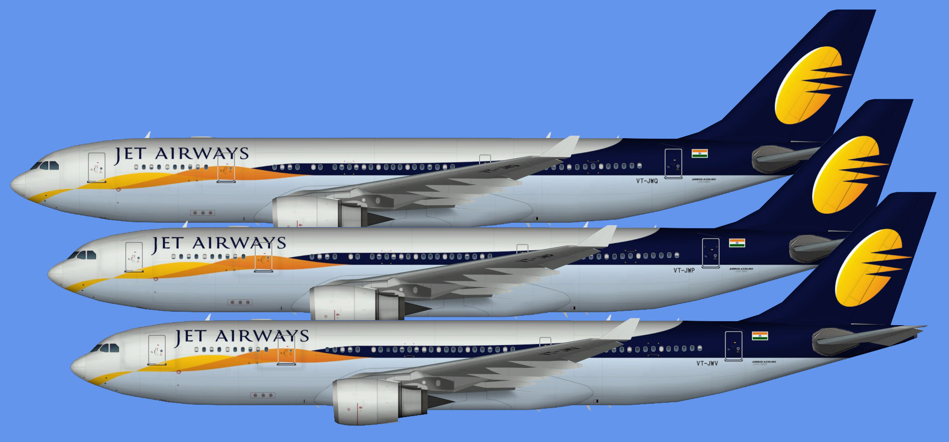 Jet Airways A330-200 (TFS)