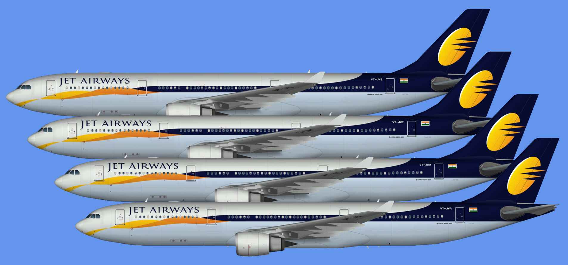 Jet Airways A330-300 (TFS)