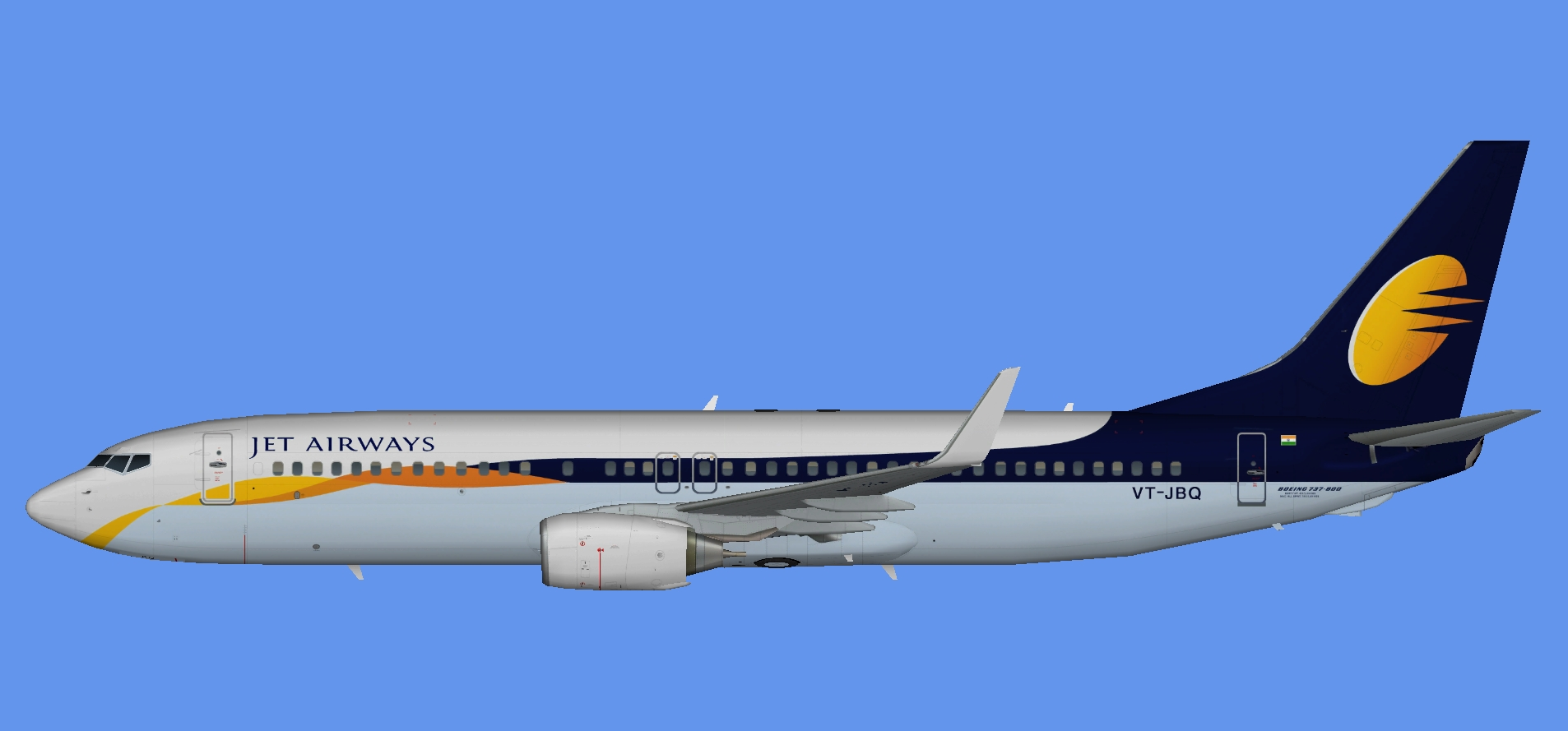 Jet Airways Boeing 737-800w