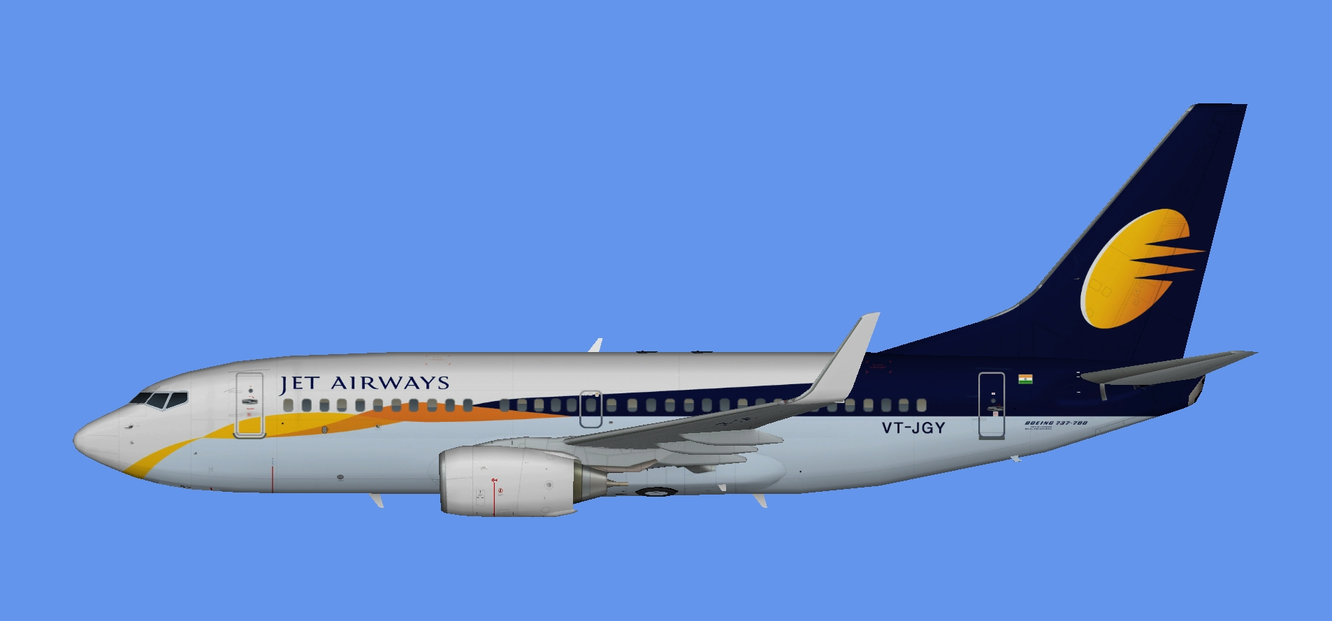 Jet Airways Boeing 737-700w