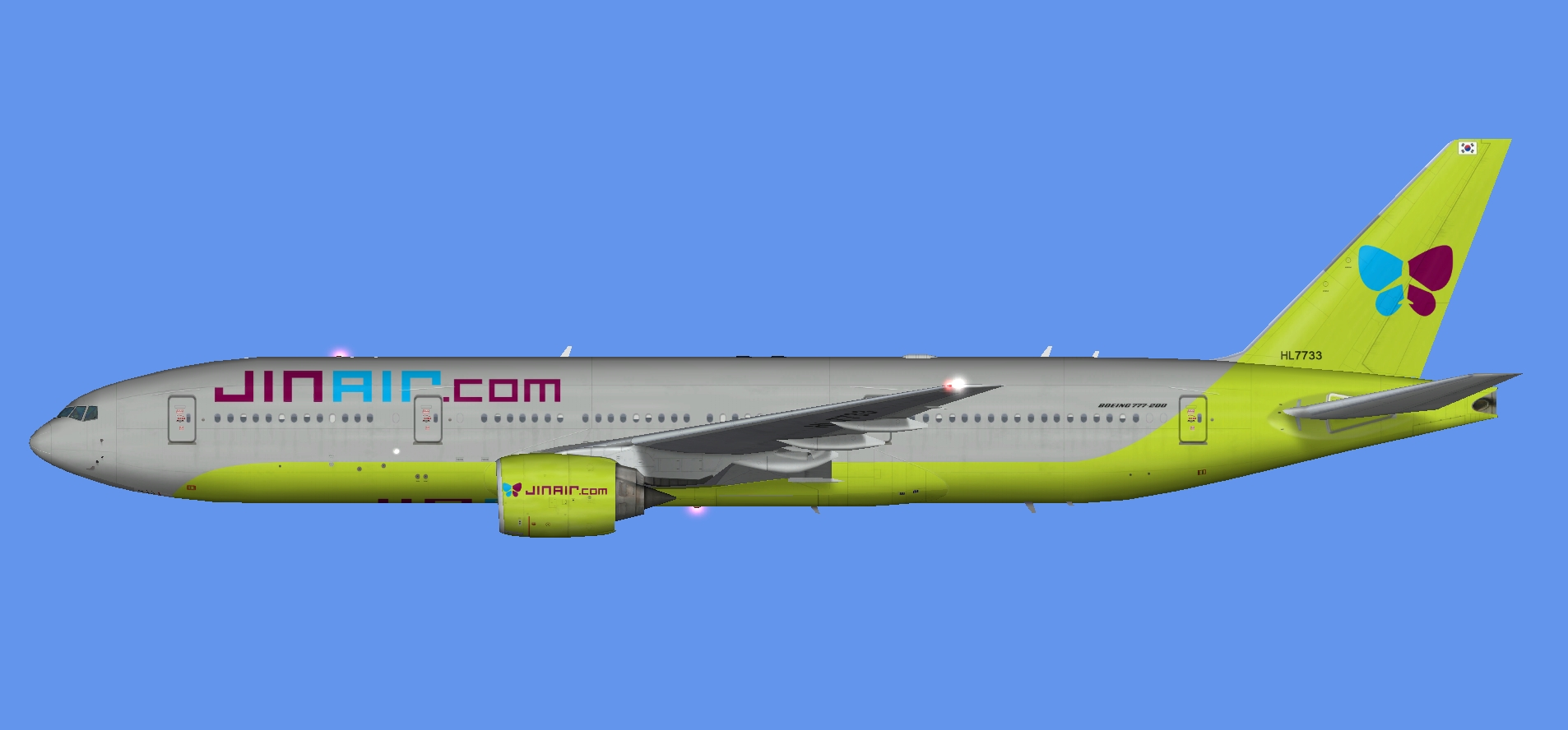 Jin Air Boeing 777-200 (FSP) - The Flying Carpet Hub