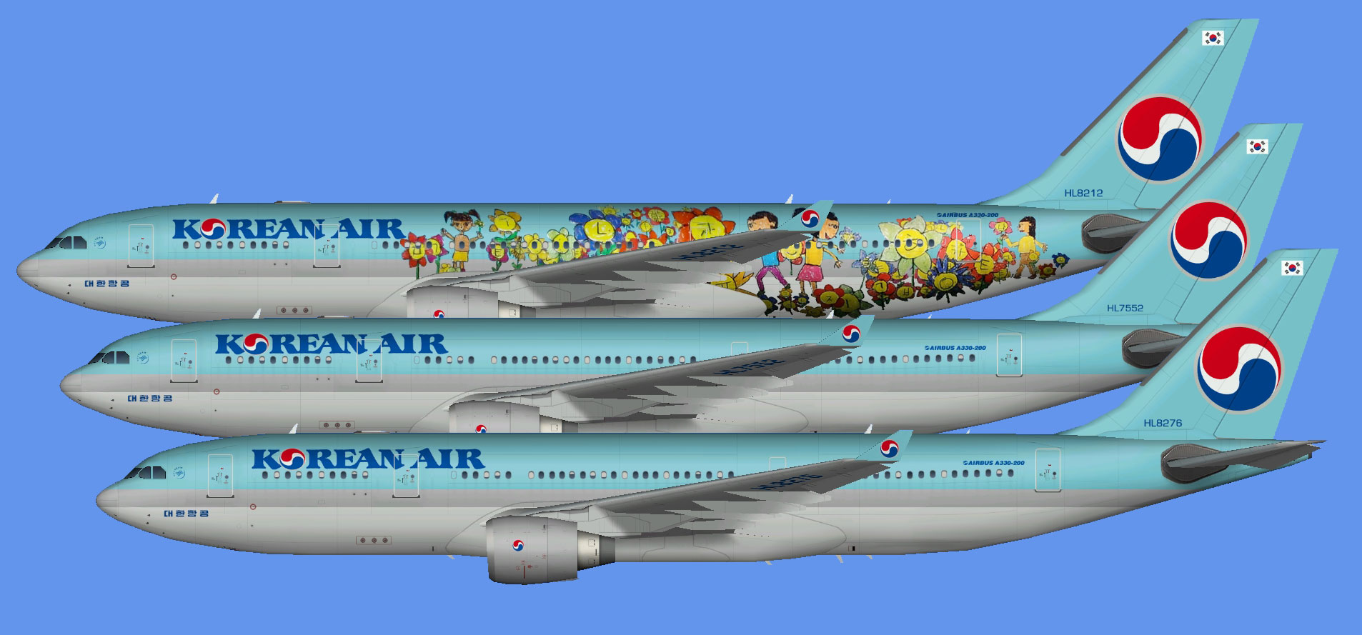 Korean Air Airbus A330-200 (TFS)