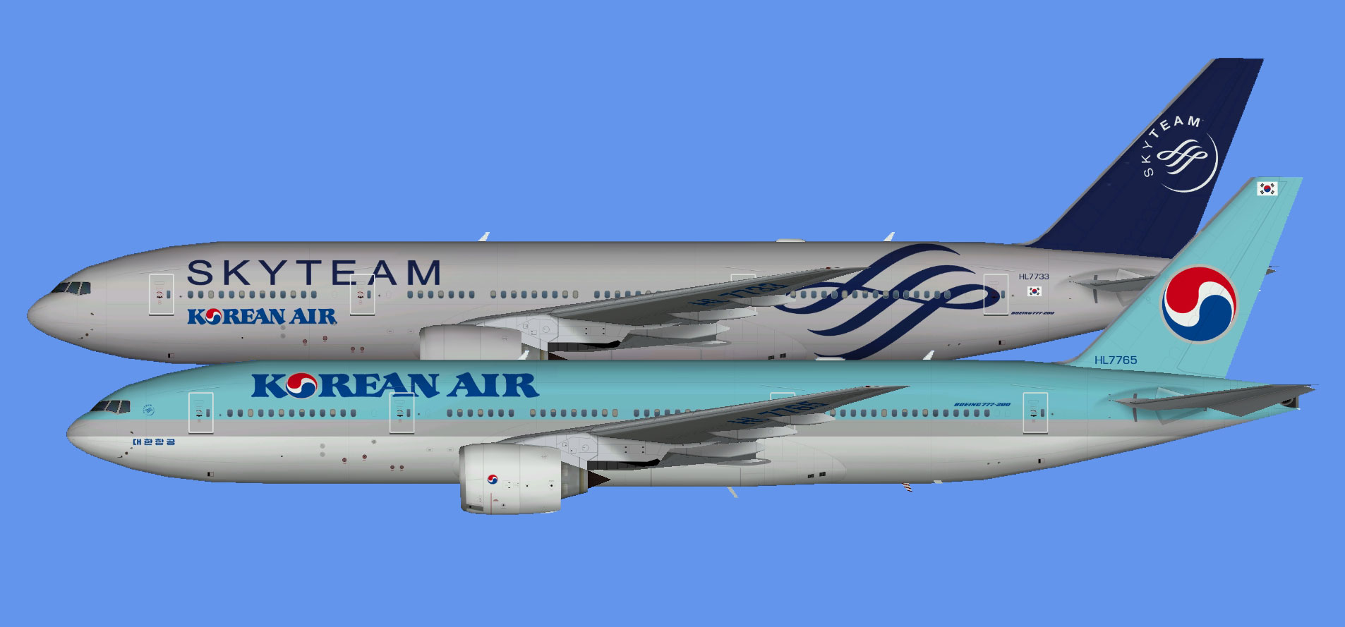 Korean Air Boeing 777-200 (TFS)