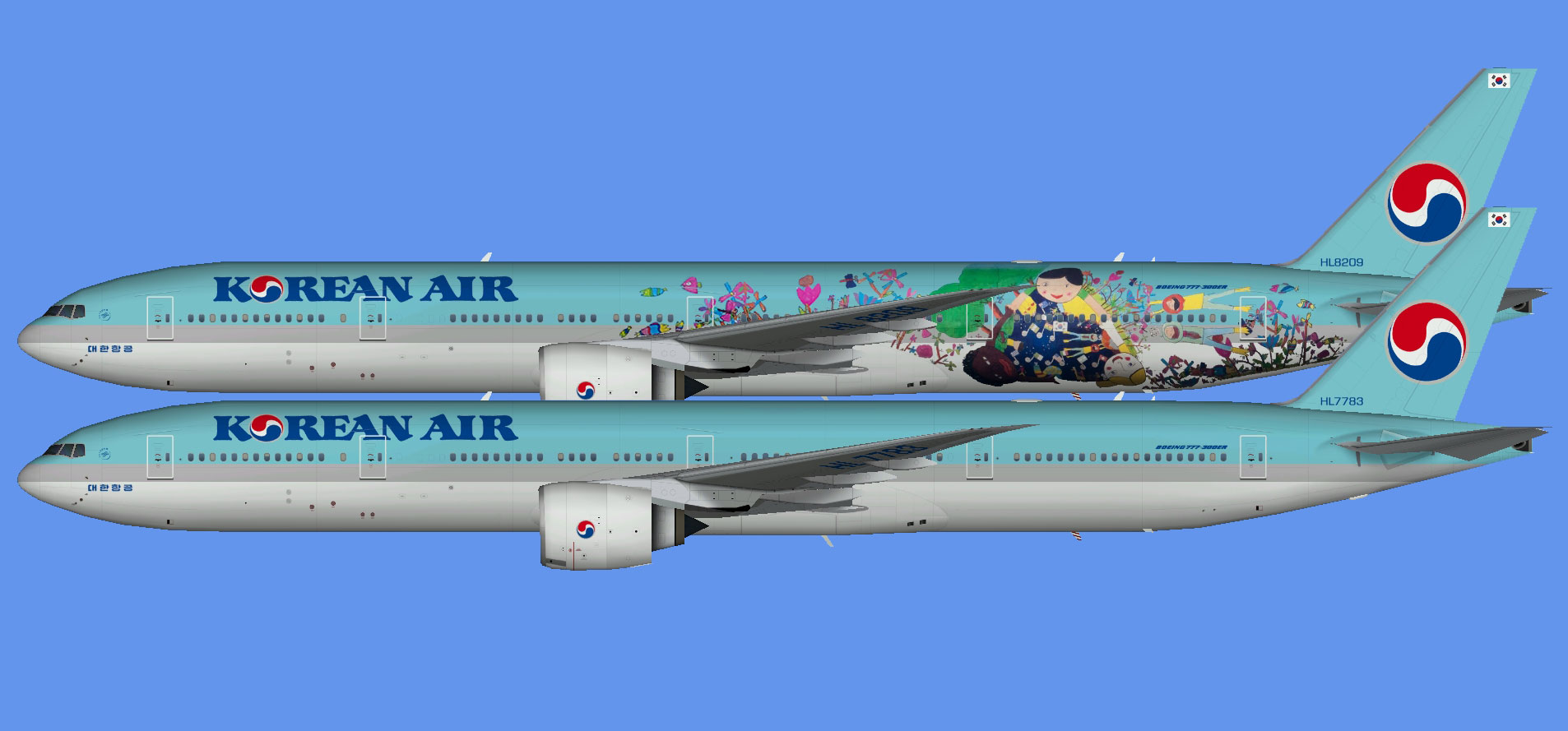 Korean Air Boeing 777-300ER (TFS)