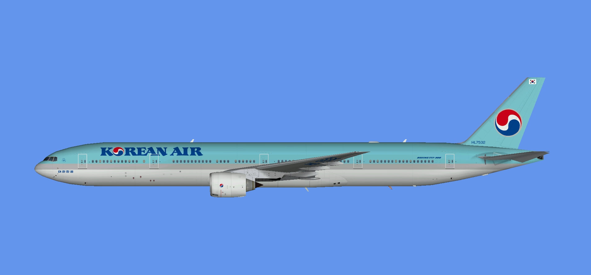 Korean Air Boeing 777-300 (TFS)