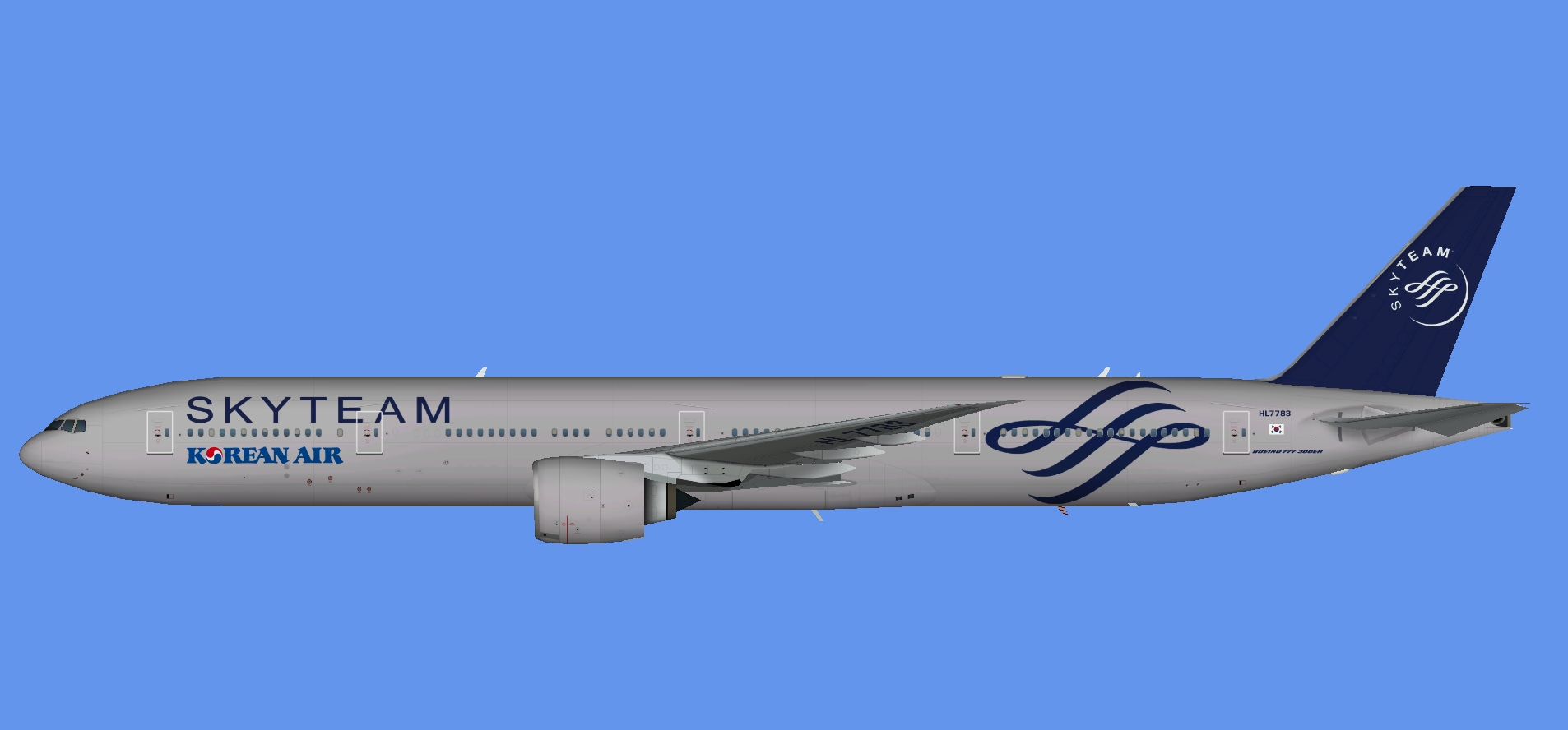 Korean Air 777-300ER Skyteam (TFS)