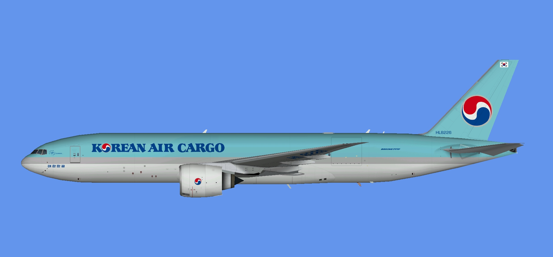 Korean Air Cargo Boeing 777F (TFS)