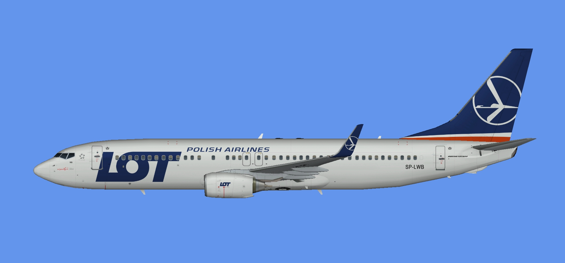 LOT Polish Airlines Boeing 737-800w