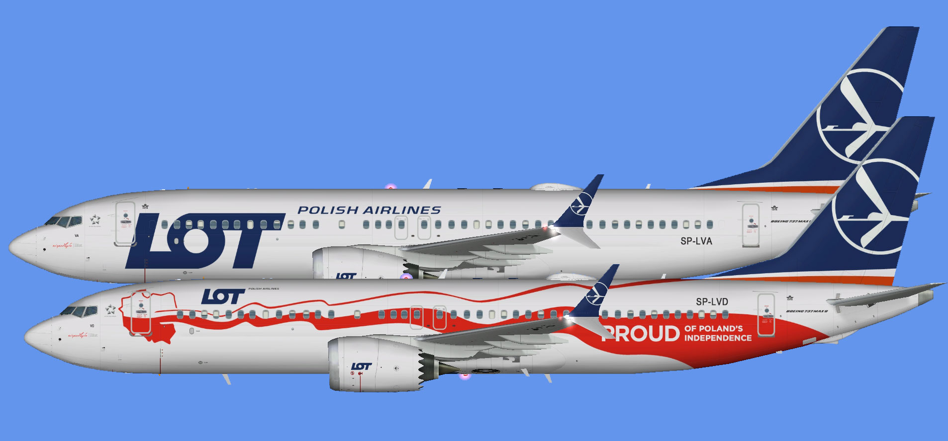 LOT Polish Airlines Boeing 737-8 MAX (FSP)